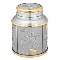 Four Seasons Tea Caddy (Gold) 6408AG