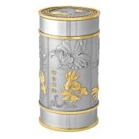 Gold Fish Tea Caddy (Gold)  6410AG