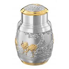 松鹤长春 Crane Tea Caddy (Gold)  6417AG